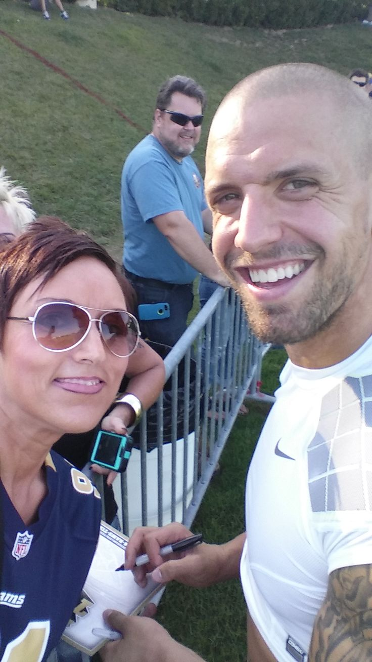 Kasey @cmcknelly & James Laurinaitis, St Louis Rams training camp spring 2014