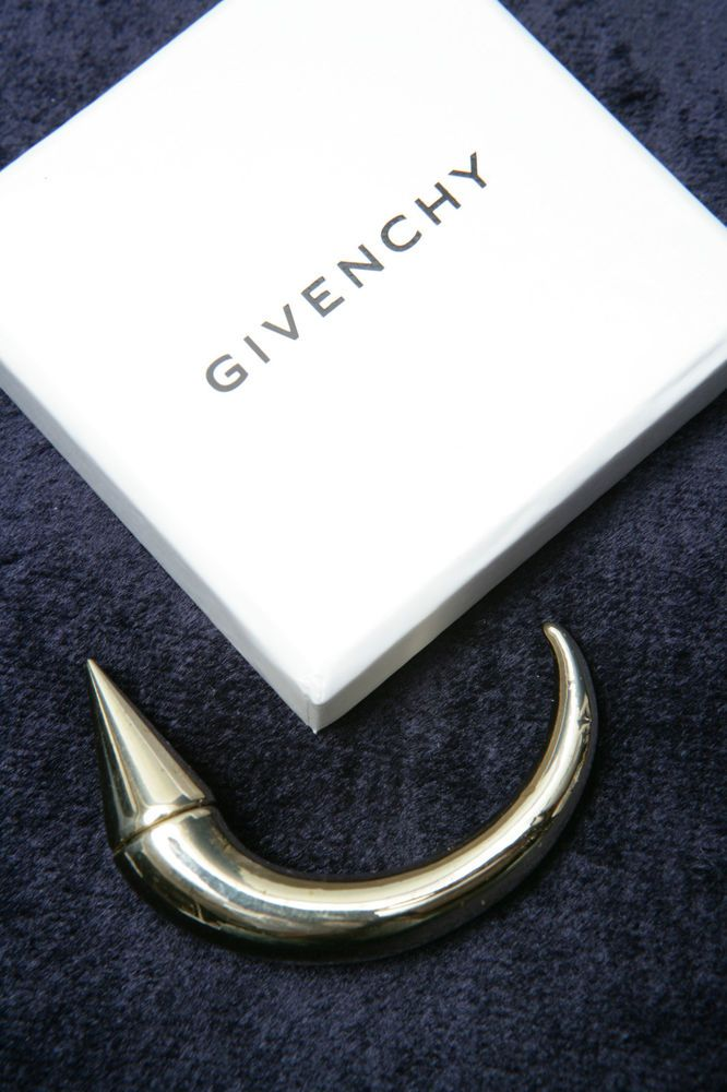Givenchy magnetic horn style earring or nose ring with original box