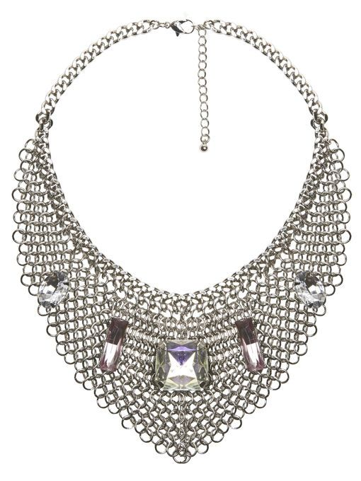 Tiered Chain Bib Necklace