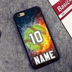 Personalized Number and Name Softball Phone Cases For iPhone Models- FREE SHIPPING