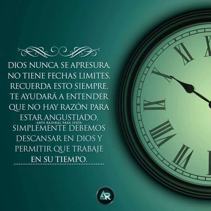 En el tiempo de Dios.