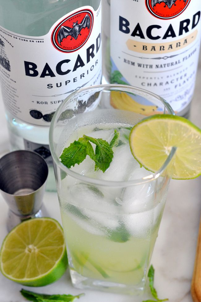 Mojito Cocktail With Bacardi Rum And Limoncello Mojito Cocktail Bacardi Bacardi Rum