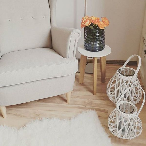 Sessel / IKEA / Armchair / Candles / Decoration / Interior / Wohnen