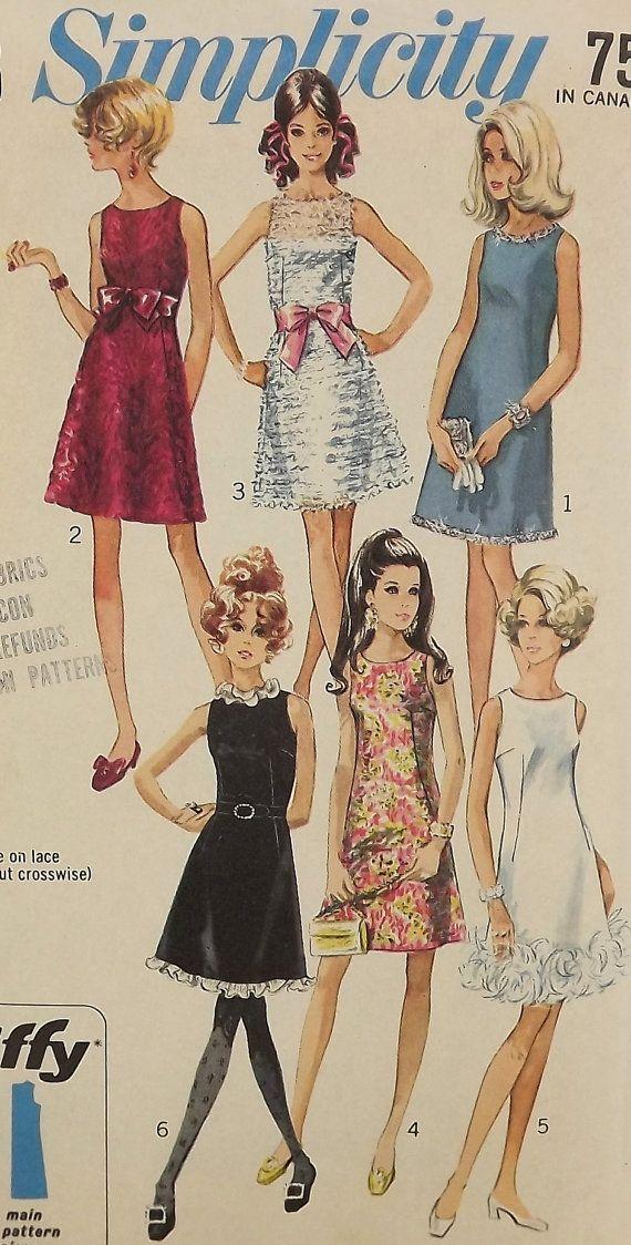 Vintage 60's Sewing Pattern Misses Aline by SuzisCornerBoutique, $12.00