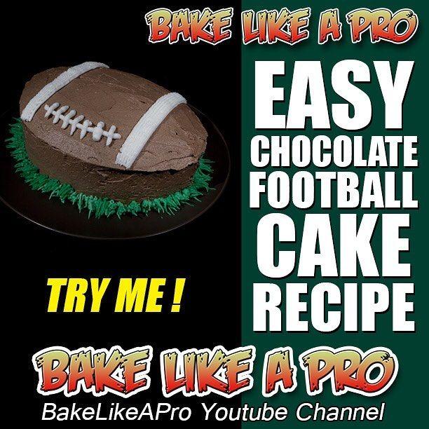 Full recipe on my YouTube channel - BakeLikeAPro #football #superbowl #chocolate #cake #recipe #food #instagood #instadaily #love #superbowl2017 #eat #instagram #gateau #chocolat #recette #sports #footballteam  #patriots #falcons #superbowlsunday #BakeLikeAPro