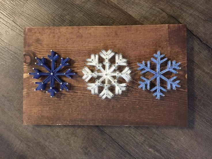 Snowflakes string art