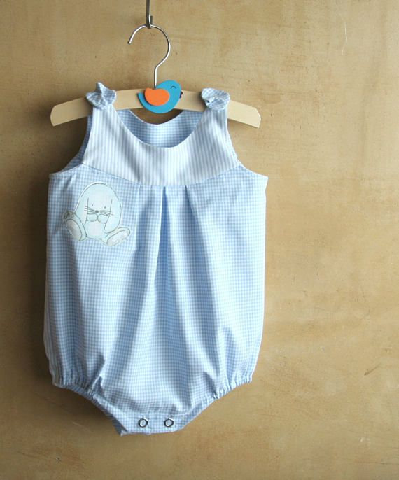 Classic Baby boy romper toddlers romper blue baby boy