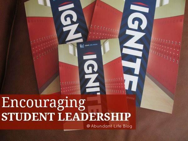 Encouraging Student Leadership The Life Bible Study IGNITE Student Leadership Course is designed to be used with church youth groups, Christian schools and homeschool families and consists of engaging video episodes that go along with thought-provoking Student and Leader Guides.