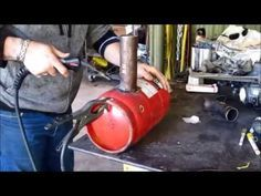 This video shows the build of a simple Waste oil Burner to run on used Vegetable or motor oil.The burner is made