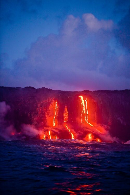 Tumblr: Activities Volcanoes, Real Estates, Lava Flowing, Amazing Places, Travel, Hot Lava, The Buckets Lists, Big Islands, The Sea