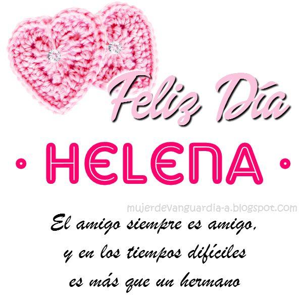 Imagen de Feliz Dia Amiga con frase cristiana de amistad y nombre HELENA