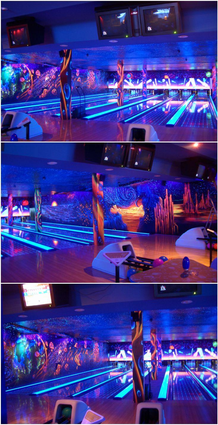 Флуоресцентный боулинг клуб. Acmelight Fluorescent paint for Interior ***** Fluorescent bowling club. Acmelight Fluorescent paint for Interior #флуоресцентная #краска #боулинг #клуб #fluorescent #paint  #bowling #club