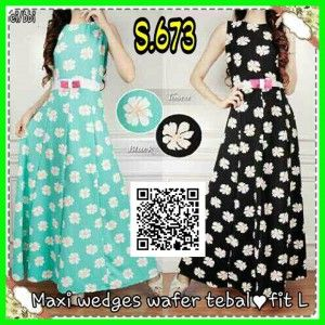 baju maxi wedges wafer tebal s673