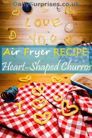 Churros in heart shape! Not deep fried and all you need is 5 ingredients plus 15mins and you can have some amazing looking heart shaped churros