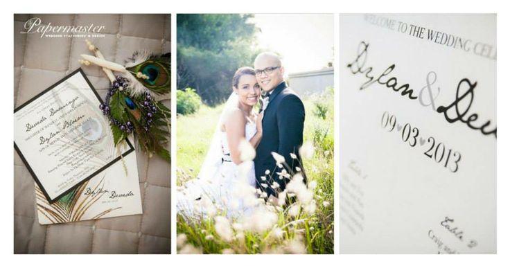 Daveda and Dylan  09  03  13 — at Running Waters Wedding Venue. Port Elizabeth Wedding Stationery  Papermaster