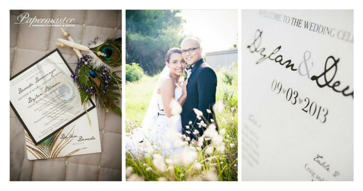 Daveda and Dylan  09  03  13 — at Running Waters Wedding Venue. Port Elizabeth Wedding Stationery  Papermaster