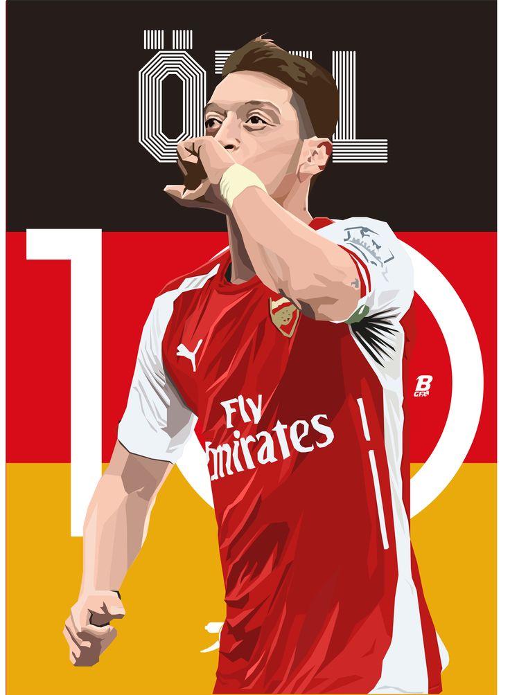 Mesut Ozil @BrandonGFX