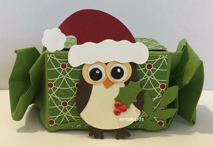Stampin Up Candy Wrapper Christmas Owl Treat Box – Punch Art & Cardstock Kit x 4 | eBay