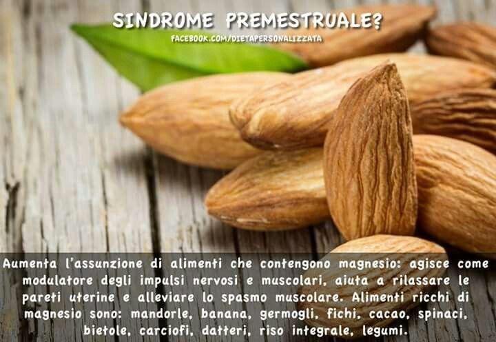 Mandorle e sindrome premestruale