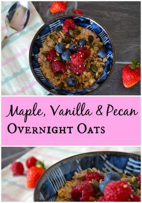 Maple Vanilla and Pecan Overnight Oats