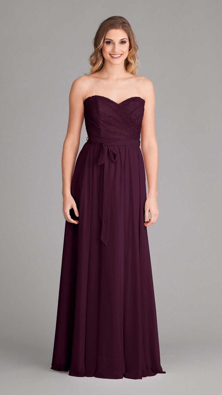142 best lace chiffon bridesmaid dresses images on pinterest kinley strapless bridesmaid dresseslace ombrellifo Images