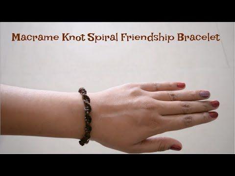 How To: Macrame Braid Spiral Friendship Bracelet - YouTube