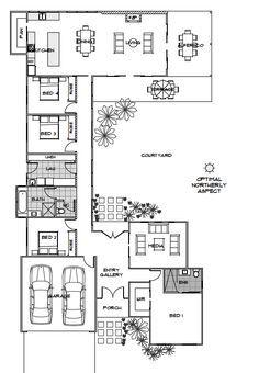 Elara | Green Homes Australia: swap bedroom 1 and garage and would be ideal.