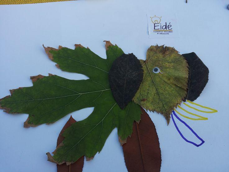 Le foglie prendono vita 2. Autunno. Laboratori creativi fatti dai bambini.