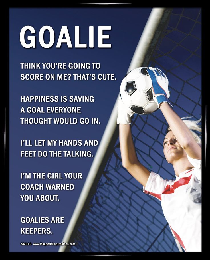 "Amazon.com : Framed Soccer Goalie Female 8"" x 10"" Poster ..."