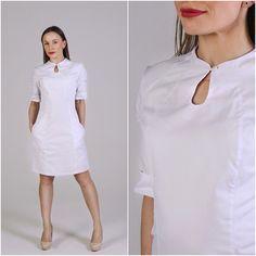Медицинское платье. Купить у производителя www.lechikrasivo.ru #медицинская #одежда #униформа #медодежда #врач #медицина #мода #стиль