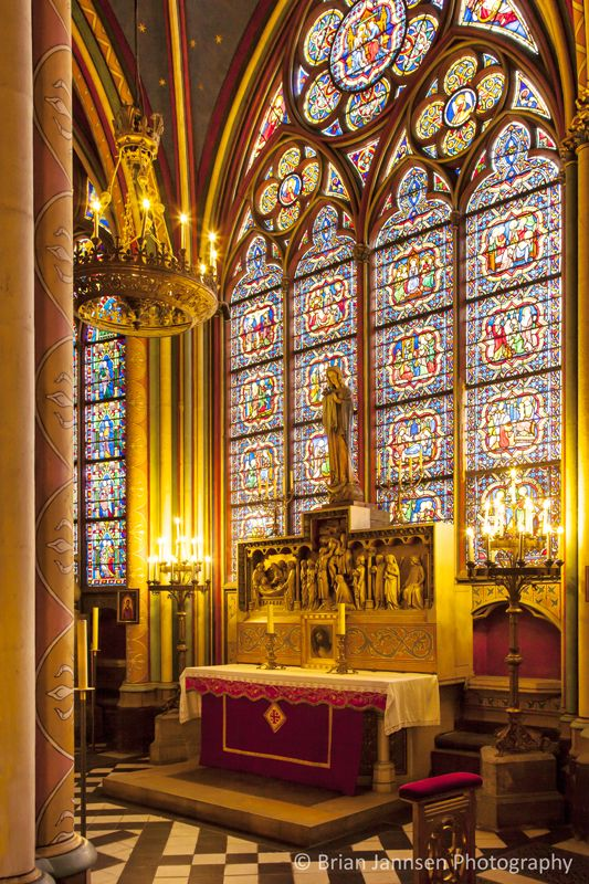 "Maarten de Vos - ""The Virgin"" Chapel in Cathedral Notre Dame, Paris France. © Brian Jannsen Photography"