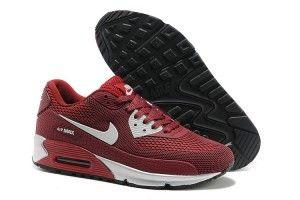 Italia outlet scarpe da ginnastica nike air max 90 hyperfuse kpu tpu uomo vino rosse argento a basso prezzo