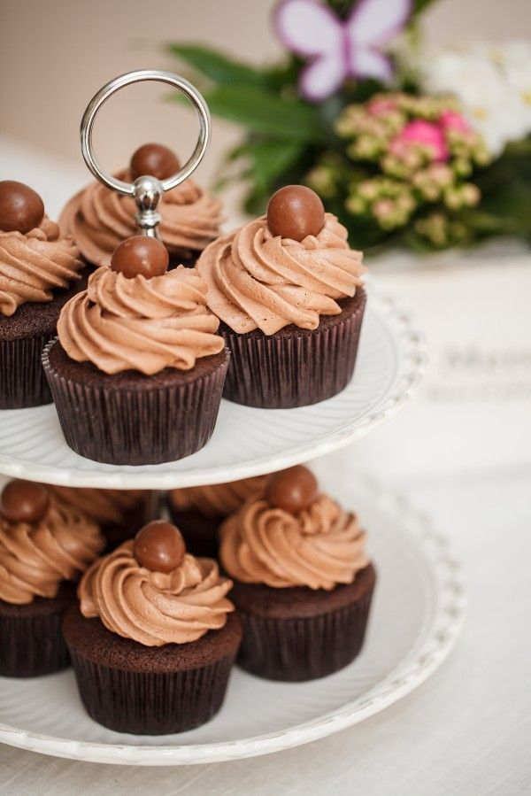 Malted Chocolate Cupcakes