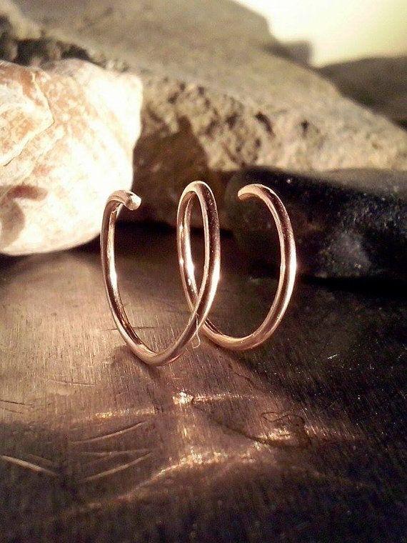 Two In One Earring Hoop/ Cartilage Hoop/ Nose by DannaJuliaStore