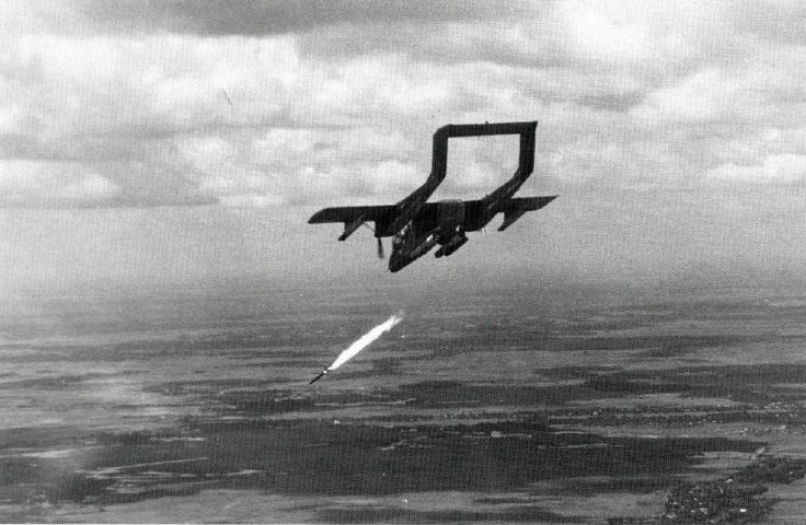 OV-10 Bronco from VAL-4 Black Ponies attacking enemy positions in the Delta with Zuni rockets.