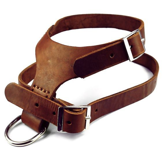 Brown Handmade Real Genuine Leather Pet Dog Harness for Medium Large size Dogs #Unbranded