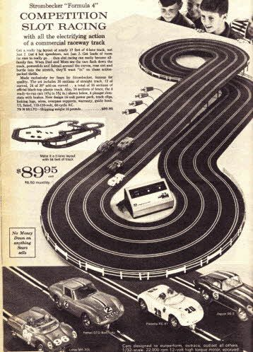 strombecker slot racing set from the 1960s