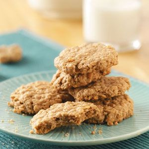 So, I made these oatmeal peanut butter cookies, with a couple of