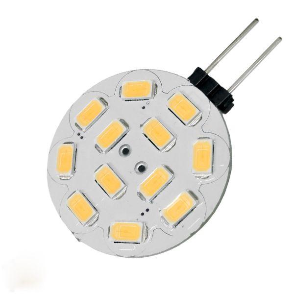 LED G4 12 smd 5630 Side Pin 8-32 Volt 4.5 Watt DC Θερμό Λευκό