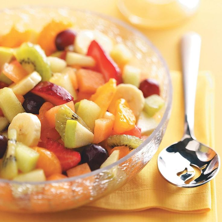 Lemonade Pudding Fruit Salad Recipe -I first made this for a family reunion, and now it's always requested for our family gatherings. The sweet and tangy lemonade-pudding coating goes well with any fruit, so feel free to substitute your favorites. —Rhonda Eads, Jasper, Indiana