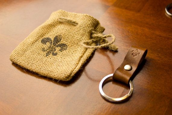 Leather Finger Hook Key Chain personalized by ParagonLeatherWorks