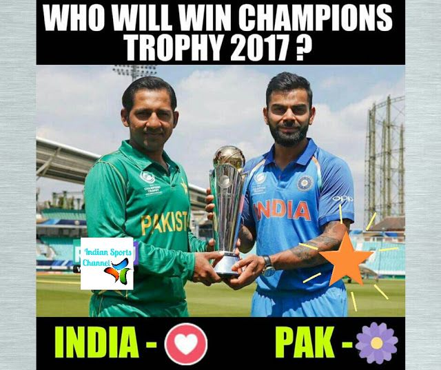 Indian sports Channel: india vs pakistan icc champions trophy final who w...
