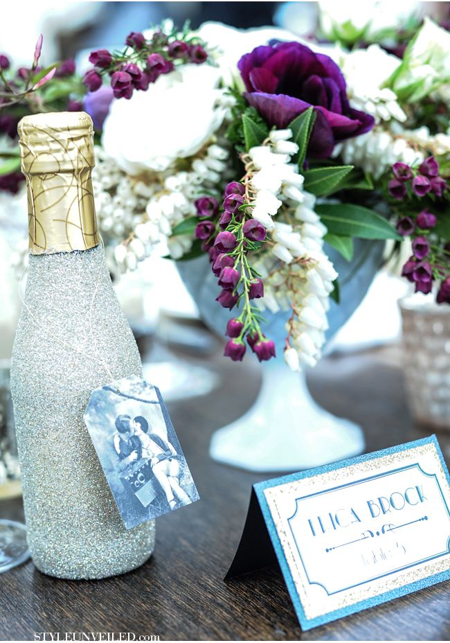 Champagne Favors by Heathoriginal, Photo by My Beloved Photography via Style Unveiled