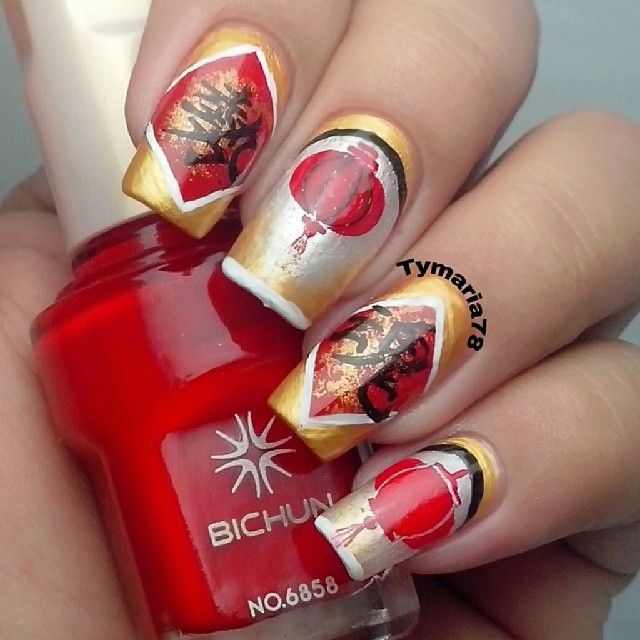 36 best Lunar New Year nails images on Pinterest | Nail art ideas ...