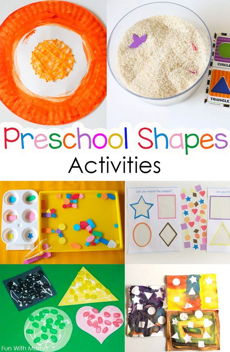 These Preschool Shapes Activities are the perfect crafts for toddlers and preschoolers to learn their shapes. Add these shape recognition activities to your Preschool shapes theme week. via @funwithmama