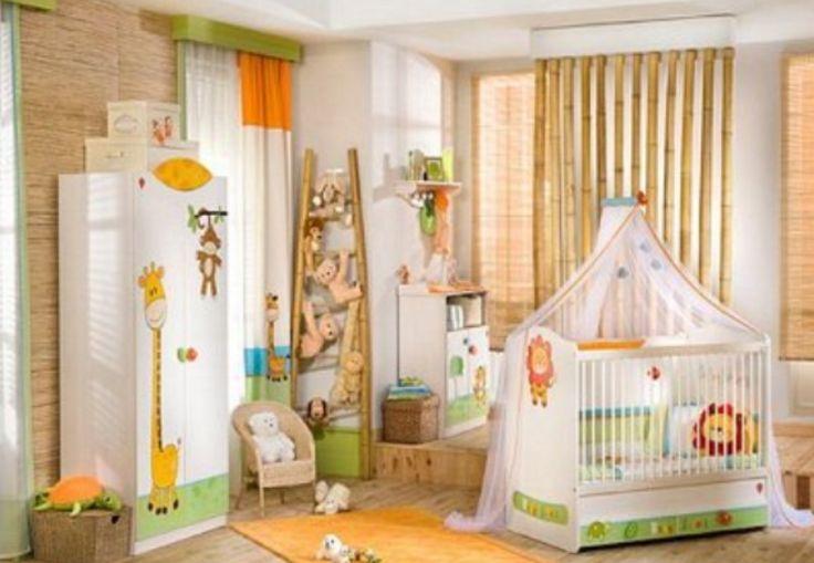 Jungle themed baby nursery