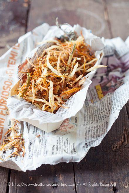 Paglia di verdure fritte al rosmarino - Trattoria da Martina - cucina…