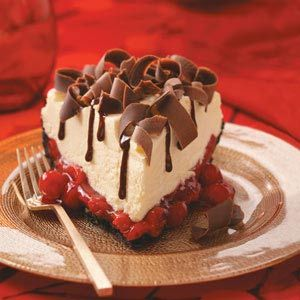 White Chocolate Mousse Cherry Pie #chocolates #sweet #yummy #delicious #food #chocolaterecipes #choco