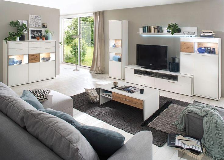 Die besten 25+ Wohnwand weiß matt Ideen auf Pinterest Klassische - wohnzimmer nussbaum weis