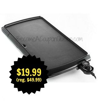 Presto Griddle Cool Touch $19.99 + FREE Store Pick Up! (reg. $49.99) http://becomeacouponqueen.com